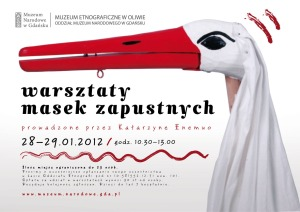 Maski zapustne Bocian Muzeum Etnograficzne